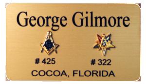 Eastern Star Masonic Name Badges, Masonic Name Tags, Masonic Name Pins