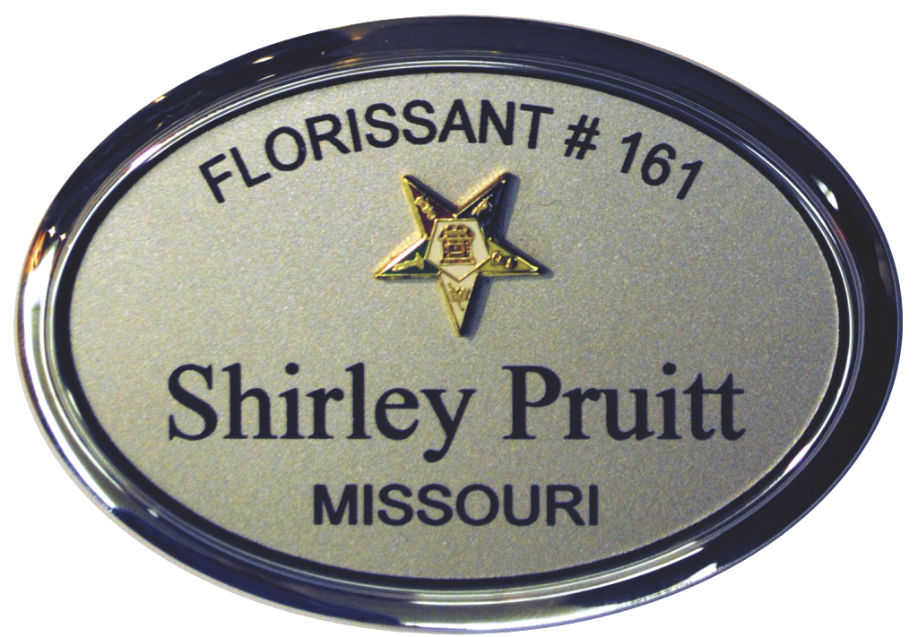 Eastern Star Name Badge